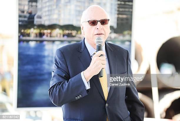 President of Vector Group Ltd Howard Lorber speaks during the groundbreaking ceremony of 160 Leroy Street on April 14 2016 in New York City