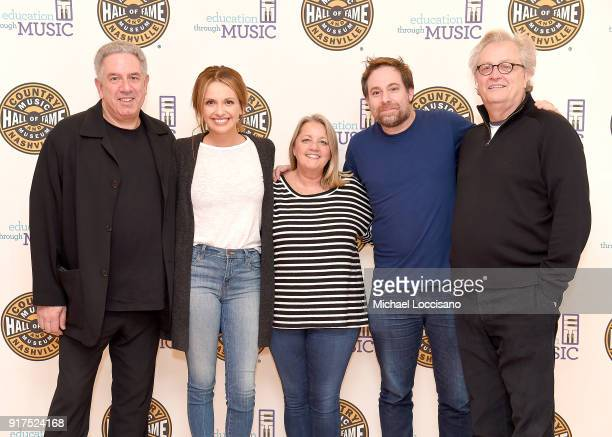 President of Vector Management Ken Levitan musicians Carly Pearce Liz Rose and Phil Barton and Country Music Hall of Fame and Museum CEO Kyle Young...