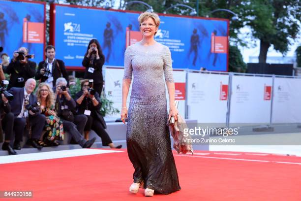 President of 'Venezia 74' jury Annette Bening arrives at the Award Ceremony during the 74th Venice Film Festival at Sala Grande on September 9 2017...