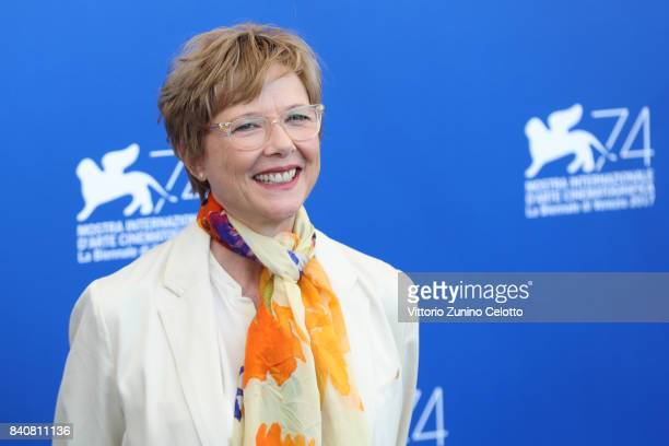 President of 'Venezia 74' jury Annette Bening attends the Jury photocall during the 74th Venice Film Festival at Sala Casino on August 30 2017 in...