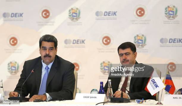 President of Venezuela, Nicolas Maduro and Istanbul Governor Vasip Sahin attend the Turkey - Venezuela Business Forum organised by Foreign Economic...