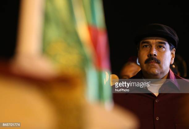 President of Venezuela Nicolas Maduro arrives in Algiers Algeria on September 11 2017 Mr Maduro has been received by President of National Assembly...