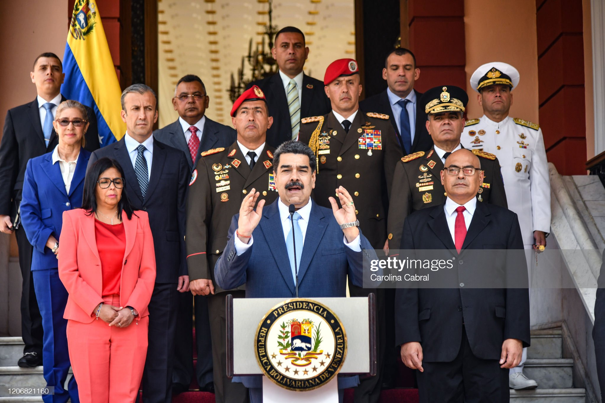 Nicolas Maduro announces Security Measures against Coronavirus in Venezuela : News Photo