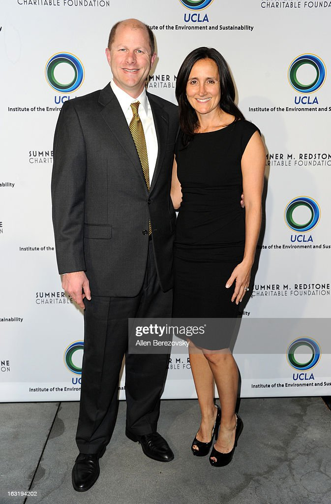 President of Verengo SolarPlus! Ken Button and Leslie Button attend UCLA Institute Of The Environment And Sustainability's 2nd Annual 'An Evening Of Environmental Excellence' - Arrivals on March 5, 2013 in Beverly Hills, California.