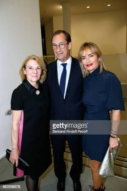 President of Versailles Castle Catherine Pegard Nicolas Bazire and his wife Fabienne attend the 'Societe des Amis du Musee d'Art Moderne de la Ville...