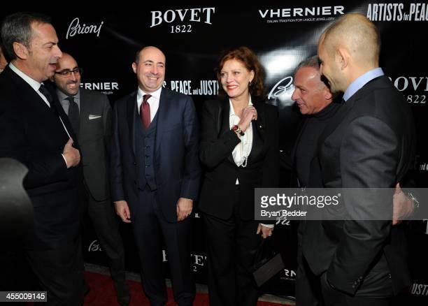 President of Vhernier Carlo Traglio Brioni CEO Todd Barrato Brioni Worldwide CEO Francesco Pesci Actress Susan Sarandon Owner of Bovet Fleurier...