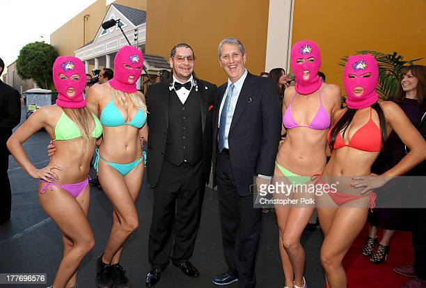 President of Viacom Entertainment Group Doug Herzog and comedian Jeff Ross attend The Comedy Central Roast of James Franco at Culver Studios on...