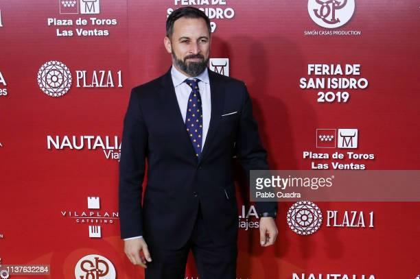 President of Vox party Santiago Abascal attends 'San Isidro 2018' Bullfights Fair Presentation at Las Ventas Bullring on March 22 2019 in Madrid Spain