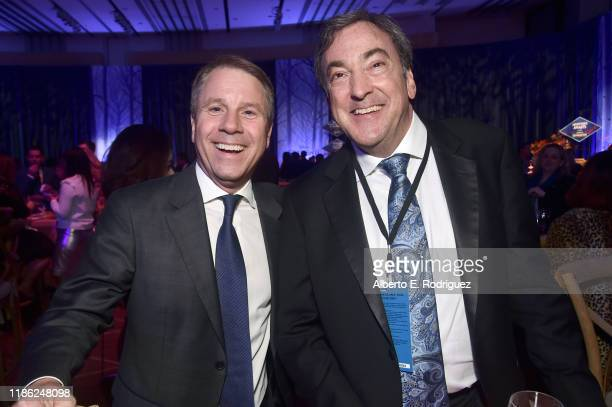 President of Walt Disney Animation Studios Clark Spencer and Producer Peter Del Vecho attend the world premiere of Disney's Frozen 2 at Hollywood's...