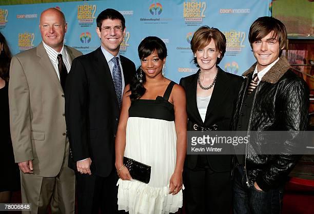 President of Walt Disney Studios Home Entertainment Bob Chapek President of Disney Channel Worldwide Rich Ross actress Monique Coleman President and...