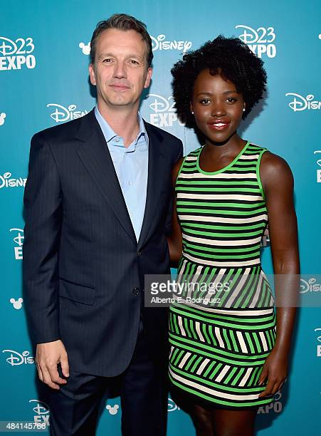 President of Walt Disney Studios Motion Picture Production Sean Bailey and actress Lupita Nyong'o of THE JUNGLE BOOK took part today in 'Worlds...
