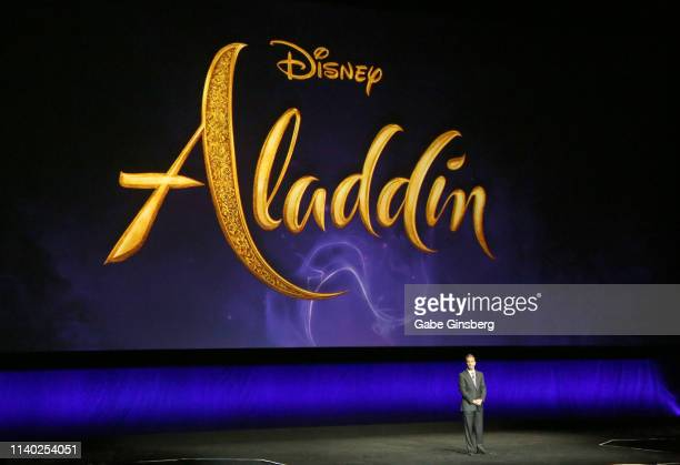 President of Walt Disney Studios Motion Picture Production Sean Bailey talks about the upcoming live action Disney movie Aladdin during Walt Disney...