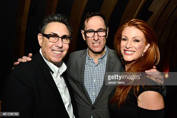 President of WE tv Marc Juris President of AMC Networks Josh Sapan and Angie Everhart attend WE tv's joint premiere party for 'Marriage Boot Camp...
