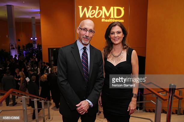 President of WebMD Steve Zatz MD and EditorinChief of WebMD Kristy Hammam arrives at the 2014 Health Hero Awards hosted by WebMD at Times Center on...