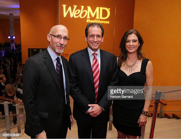 President of WebMD Steve Zatz MD CEO of WebMD David Schlanger and EditorinChief of WebMD Kristy Hammam arrives at the 2014 Health Hero Awards hosted...