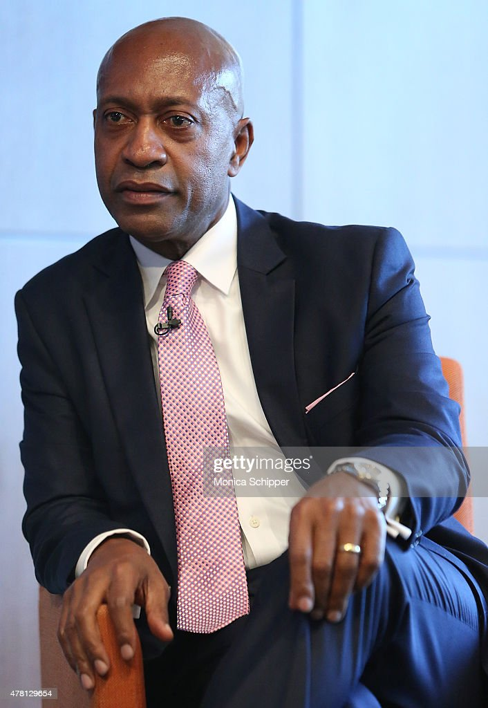 President of Western Union Foundation Patrick Gaston speaks at the Beyond Soccer Series Powered By streetfootballworld at Thomson Reuters Building on June 22, 2015 in New York City.