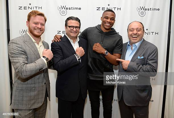 President of Westime Greg Simonian Aldo Magada President and CEO of Zenith NBA player and Zenith Brand Ambassador Russell Westbrook and CEO of...