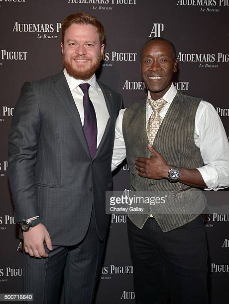 President of Westime Greg Simonian and actor Don Cheadle attend the Opening of Audemars Piguet Rodeo Drive at Audemars Piguet on December 9 2015 in...