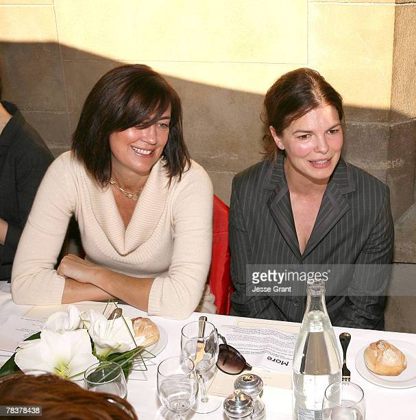 President of Women in Film Jane Fleming and actress Jeanne Tripplehorn at the More Magazine and Women In Film filmmaker luncheon at Chateau Marmont...