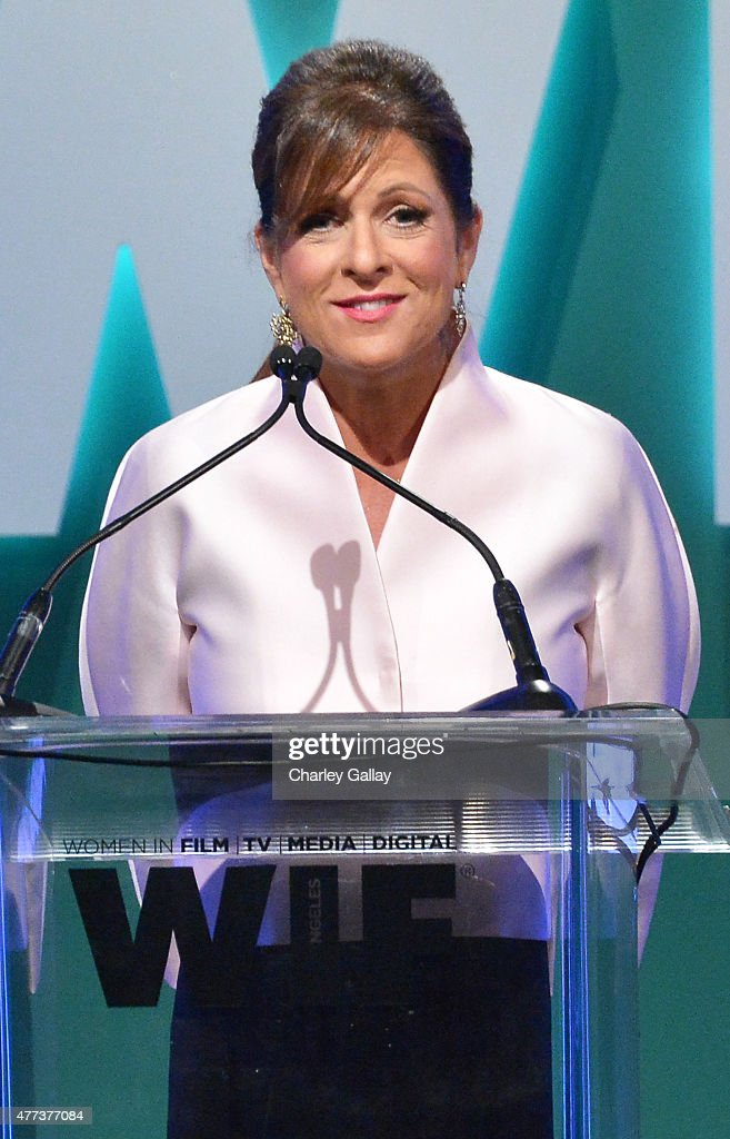 President of Women In Film, Los Angeles, Cathy Schulman speaks onstage during the Women In Film 2015 Crystal + Lucy Awards Presented by Max Mara, BMW of North America, and Tiffany & Co. at the Hyatt Regency Century Plaza on June 16, 2015 in Century City, California.