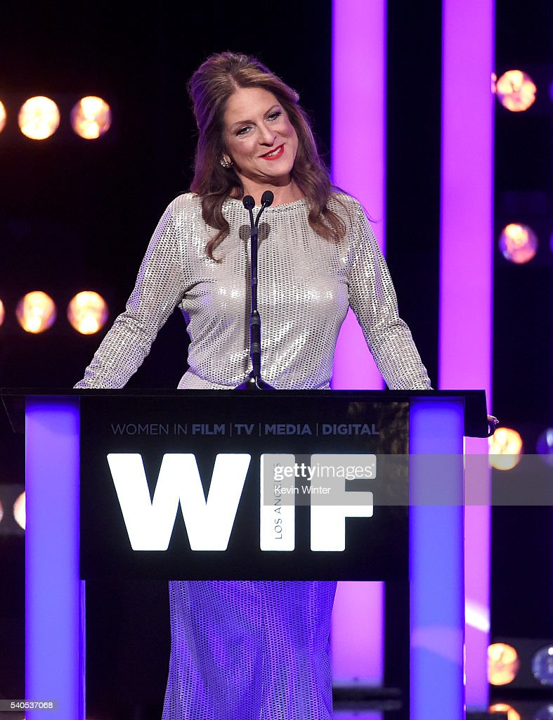 President of Women In Film, Los Angeles Cathy Schulman speaks onstage at the Women In Film 2016 Crystal + Lucy Awards Presented by Max Mara and BMW at The Beverly Hilton on June 15, 2016 in Beverly Hills, California.
