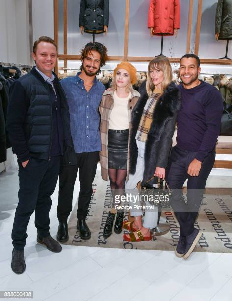 President of Woolrich Nick Brayton actors Avan Jogia Emma Roberts Jaime King and SVP Marketing Communications of Woolrich Rocco Venneri attend...