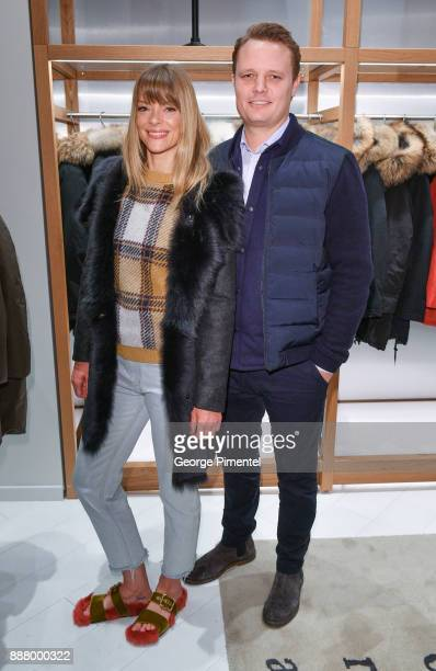 President of Woolrich Nick Brayton and Actor Jaime King attend Woolrich Yorkdale Grand Opening at Yorkdale Shopping Center on December 7 2017 in...