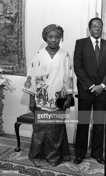President of Zimbabwe Robert Mugabe with his wife Sally at a State reception at Dublin Castle during Mugabe's threeday visit to Ireland in September...