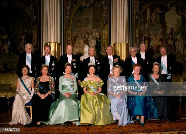 President Olafur Grimsson of Iceland Arch Duke Henri of Luxemburg King Harald of Norway King Carl XVI Gustaf of Sweden Prince Consort Henrik of...