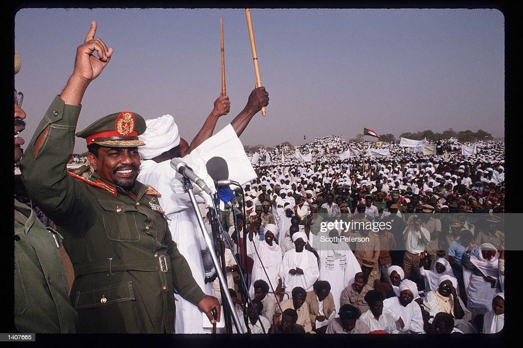 Rally For President Bashir In Western Sudan : News Photo