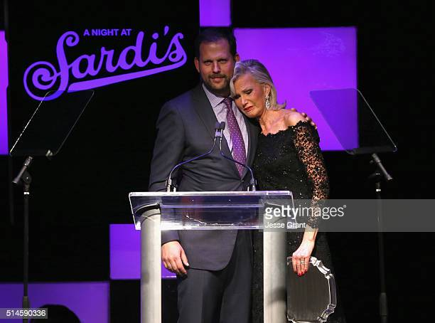 President Original Programming for FX Networks and FX Productions Nick Grad and Laurie Burrows accept The Philanthropy Award on behalf of honoree...