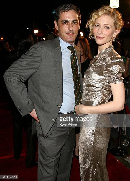 President Paramount Vantage John Lesher and actress Cate Blanchett arrive at the Paramount Vantage premiere of 'Babel' held at the FOX Westwood...