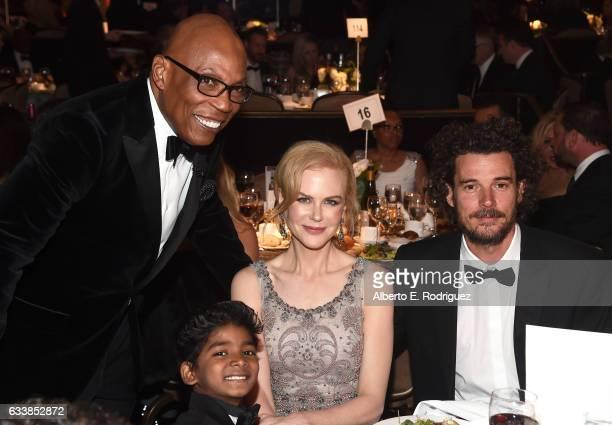 DGA President Paris Barclay actor Sunny Pawar actress Nicole Kidman and director Garth Davis attend the 69th Annual Directors Guild of America Awards...