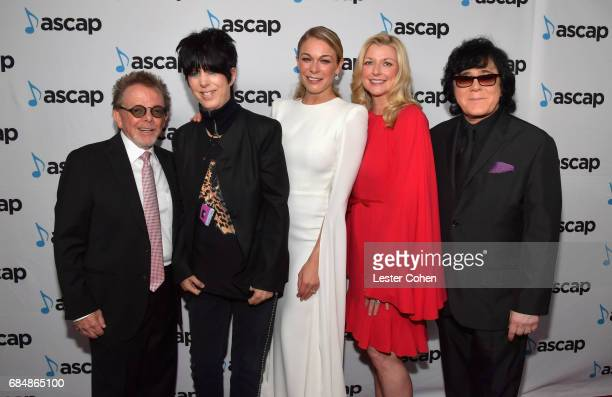 ASCAP President Paul Williams songwriter Diane Warren singer LeAnn Rimes ASCAP CEO Beth Matthews and ASCAP EVP of Membership John Titta at the 2017...