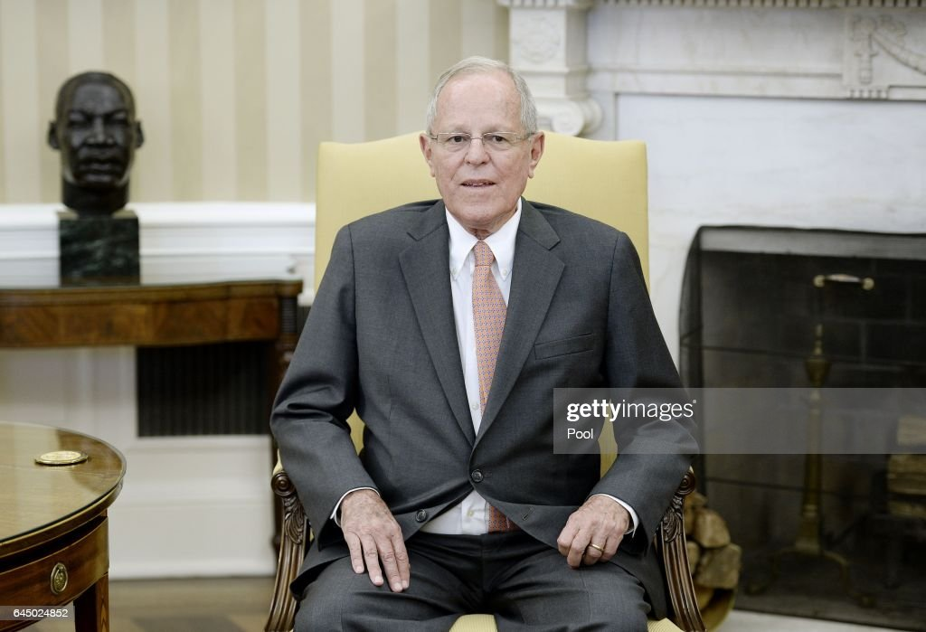 President Trump Meets With President Of Peru Pedro Pablo Kuczynski