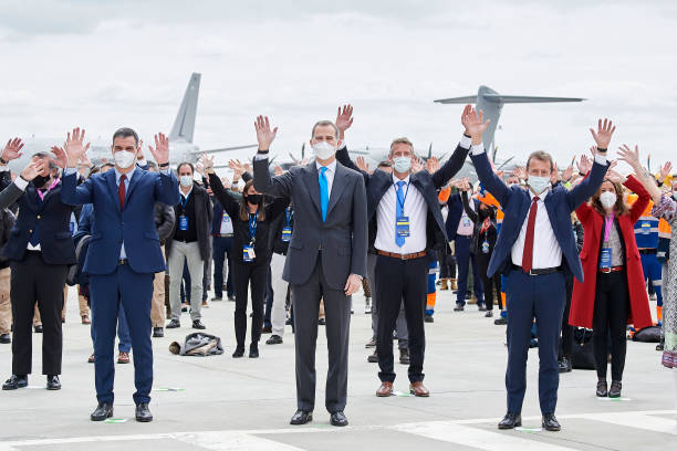 ESP: King Felipe Of Spain Inaugurates The New Airbus Campus