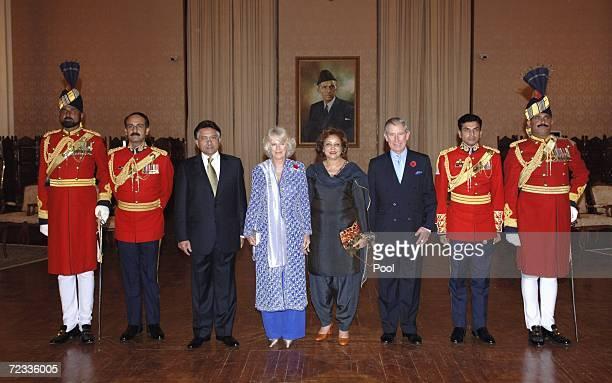 President Perez Musharraf Camilla Duchess of CornwallSehba Musharraf and Charles Prince of Wales attend the presidential banquet on November 1 2006...