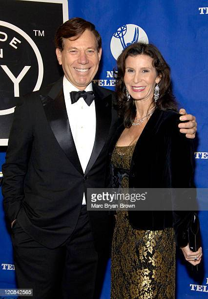 President Peter Price and Katherine Oliver during Community and Public Service Emmy Award Ceremony at Marriott Marquis in New York City New York...
