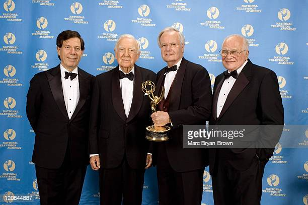 President Peter Price Walter Cronkite Lifetime Achievement Award Recipient Bill Moyers and Bill Small Chairman of the News and Documentary Emmy Awards