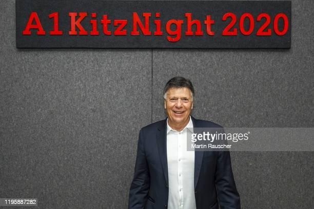 President Peter Schroecksnadel on the A1 Kitz Night 2020 on the Audi FIS alpine ski world cup on January 24 2020 in Kitzbuehel Austria