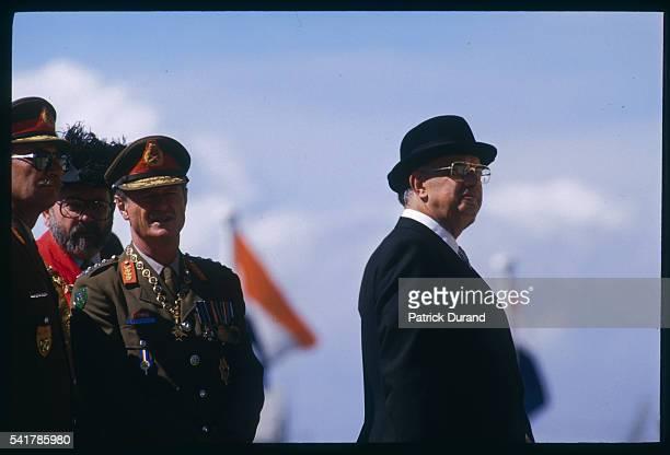 President Pieter Botha at a Military Parade