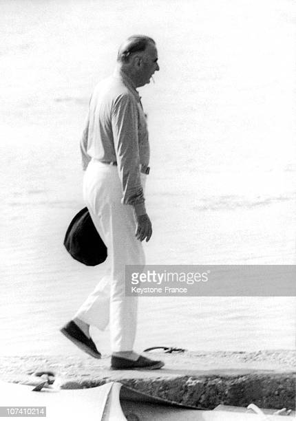President Pompidou On Holiday In 1970
