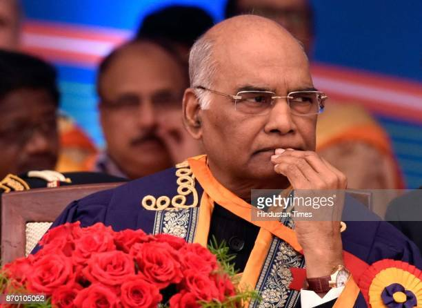 President Ram Nath Kovind at the 48th Convocation of Indian Institute of Technology on November 4 2017 in New Delhi India President Ram Nath Kovind...