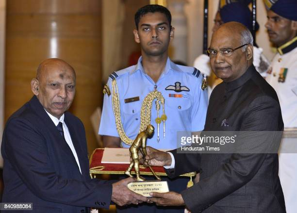 President Ram Nath Kovind gave away the prestigious Dhyan Chand award 2017 for Football to Syed Shahid Hakim at Rashtrapati Bhawan on the occasion of...