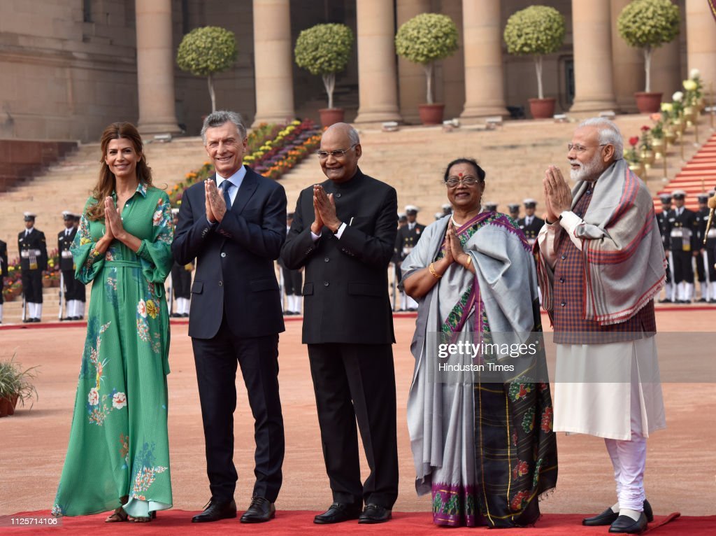 IND: Ceremonial Reception Of Argentinian President Mauricio Macri