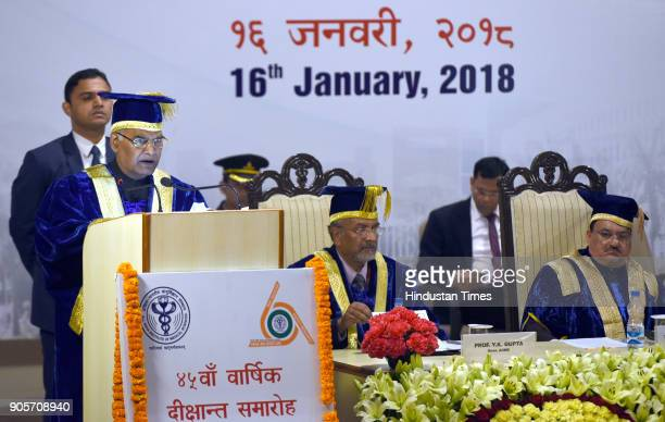 President Ramnath Kovind addressing the doctors on the occasion of the 45th Annual Convocation at All India Institute of Medical Science on January...