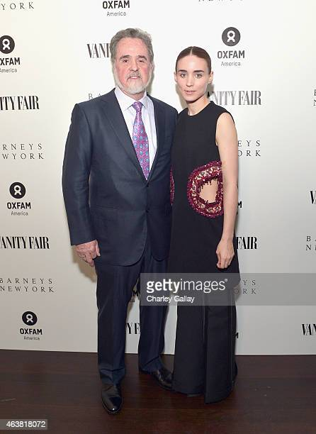 President Raymond Offenheiser and actress Rooney Mara attend VANITY FAIR and Barneys New York Dinner benefiting OXFAM hosted by Rooney Mara at...