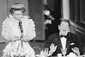 President reagan laughs following a joke by the straightfaced queen picture id514704986?s=170x170