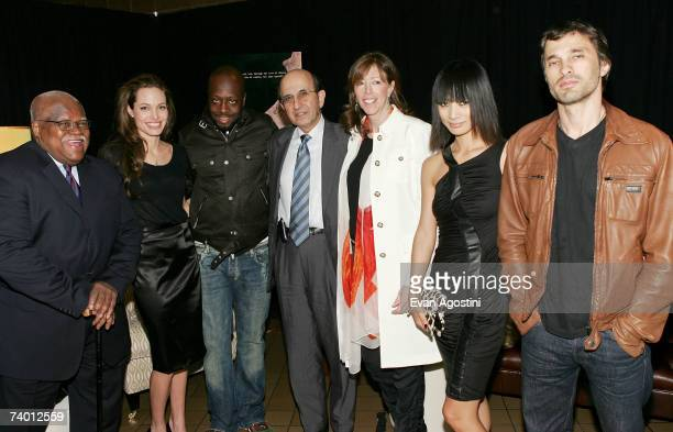 NEA President Reggie Weaver actor/director Angelina Jolie recording artist Wyclef Jean Chancellor of the New York City Department of Education Joel...