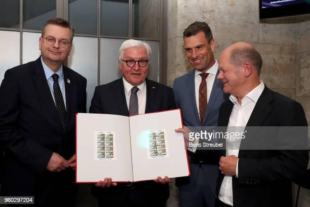 DFB president Reinhard Grindel federal president FrankWalter Steinmeier Deutsche Sporthilfe Executive Chairman Dr Michael Illgner and federal finance...